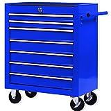 Masko® Werkstattwagen – 7 Schubladen, blau ✓ - 3