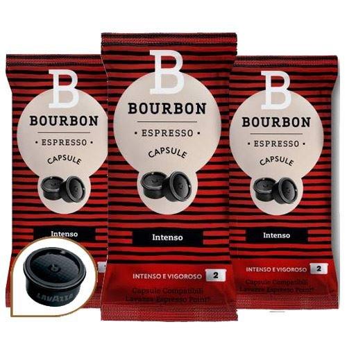 300 CAPSULE CAFFE INTENSO BOURBON COMPATIBILI LAVAZZA ESPRESSO POINT
