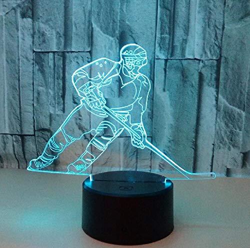Nuevo Reproductor De Hielo, Luces 3D Coloridas, Luz Nocturna Con Gradiente Led, Hockey Táctil, Visión Estéreo 3D, Usb, Accesorios De Luz 3D, Lámpara De Mesa