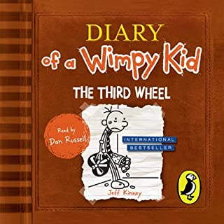 The Third Wheel     Diary of a Wimpy Kid, Book 7              By:                                                                                                                                 Jeff Kinney                               Narrated by:                                                                                                                                 Dan Russell                      Length: 1 hr and 51 mins     93 ratings     Overall 4.4