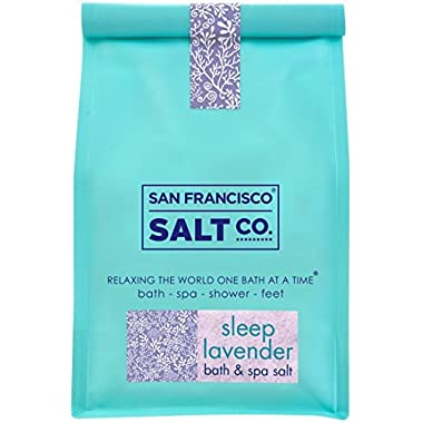 Sleep Lavender Bath Salts 2 lb. Luxury Gift Bag by San Francisco Salt Company