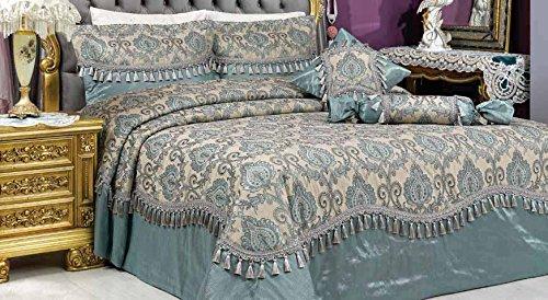 Vinaldi Türkisch Polyester Tagesdecke Set (Marke) 260 x 270 cm Turqause