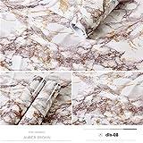 kengbi Einfach zu dekorieren, beliebte langlebige Tapeten aus PVC, selbstklebende Tapete, Marmor-Aufkleber, wasserdicht, hitzebeständig, Küchentheken, Tisch, Möbel, Schrank, Wandpapier