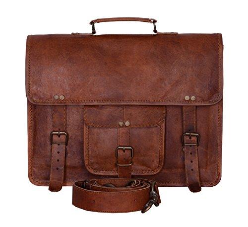 KPL Vintage 15 Inch Laptop Messenger Bag briefcase Satchel laptop bag for Men and Women