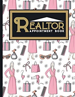 Realtor Appointment Book: 2 Columns Appointment Journal, Appointment Scheduler Calendar, Daily Planner Appointment Book, Cute Beauty Shop Cover (Volume 8)