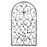 Layee Spanish Architectural Pattern Metal Wall Art Garden Plaque Butterfly Indoor Outdoor Gate Decoration
