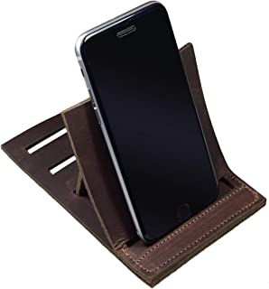 Hide & Drink, Leather Vertical Phone Stand, Fits (3 in.) Wide Devices/Smartphone/Station/Holder/Mobile Dock/Office Essenti...