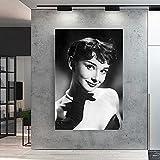 CloudShang Retro Vogue Audrey Hepburn Motivación Salon de Decoracion Retrato Pared Arte Impresiones ...