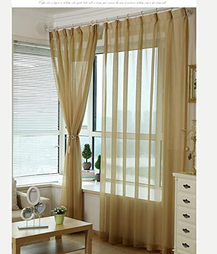 1pcs - Cortinas Poliéster Translucida de Moderno Cortina Ventana Visillos Salon para Dormitorio Comedor (blanco,marrón,gris,beige)