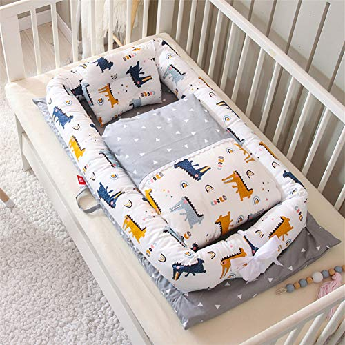 Best Review Of Baby Lounger, Baby Nest and Baby Bassinet, Portable 100% Organic Soft Cotton Breathab...