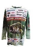 Camiseta Tecnica Deportiva DE Pesca DE Black Bass DE Manga Larga. Verde. Especial Campeonato SONER Euro Cup. (T.S)