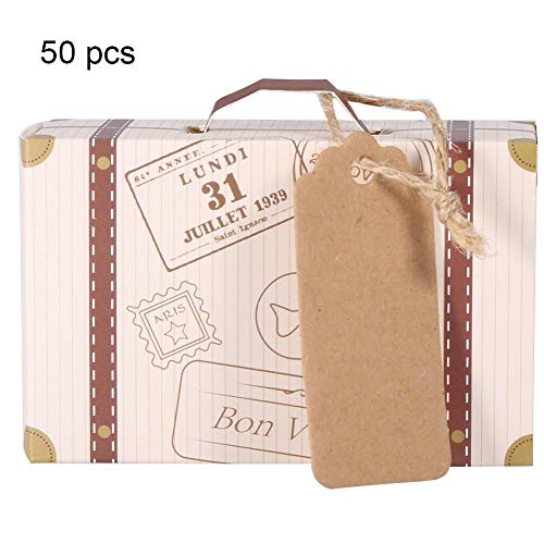 Zyyini Candy Box, 50 stks/Set Novel Mini Candy Box Elegant Draagbaar Karton Candy Gift Box koffer voor Bruiloft Party Verjaardag
