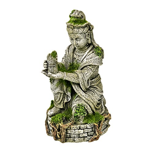 Blue Ribbon EE-696 Ancient Buddha Statue with Moss Exotic Environments Aquarium Ornament, White