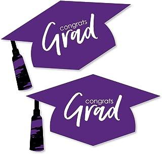 Purple Grad - Best is Yet to Come - Graduation Hat Decorations DIY Purple Graduation Large Party Essentials - 20 Count