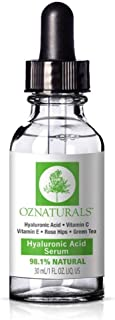 OZNaturals - Hyaluronic Acid Serum With Vitamin C, 30 ml. (Packaging May Vary)