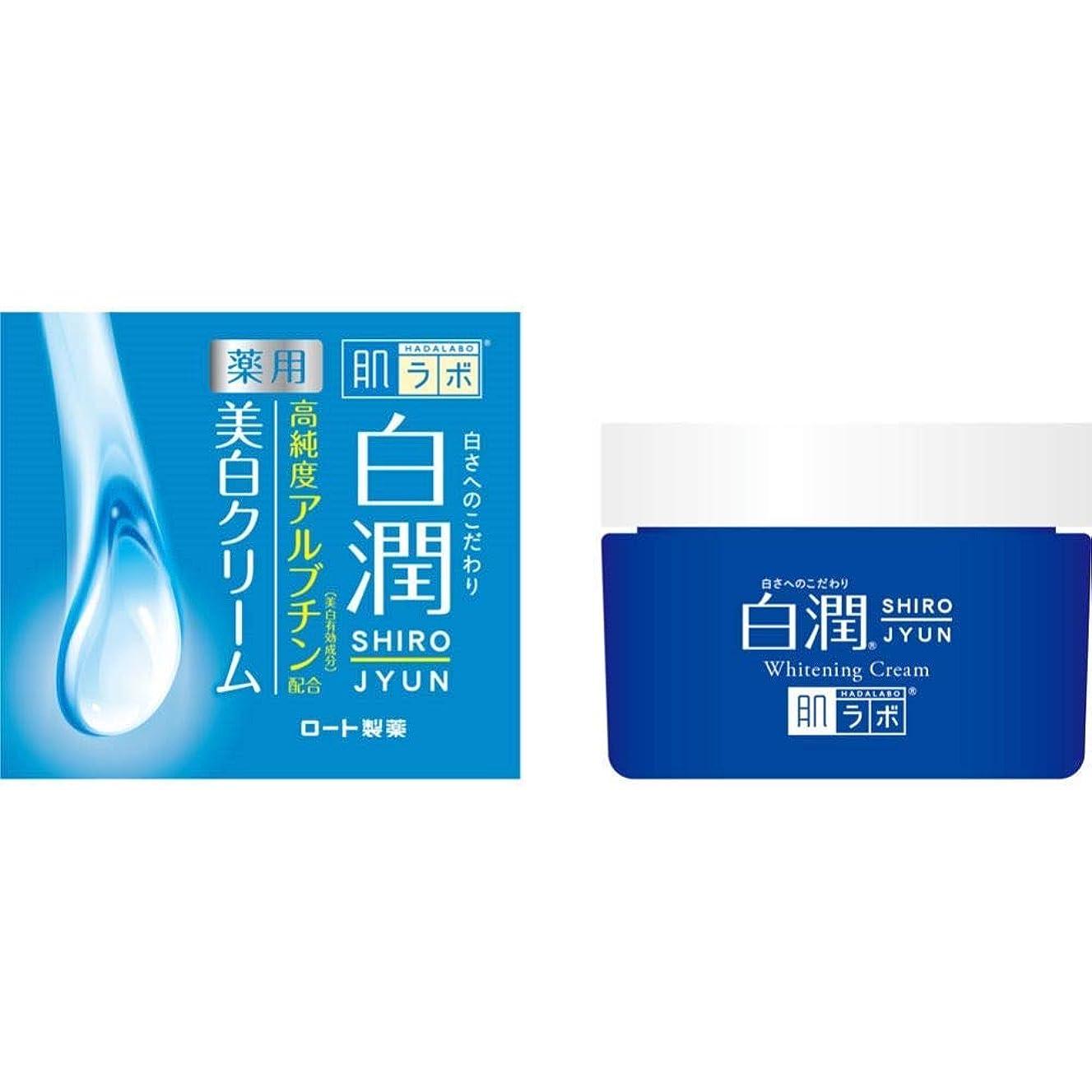 汚染された膨らませるタヒチ【ロート製薬】肌研 白潤薬用美白クリーム 50g(医薬部外品) ×3個セット