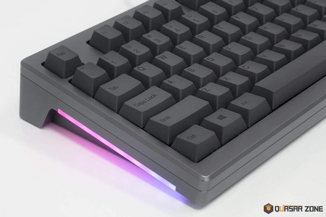 ABKO AR87 CNC Full Aluminium Cherry MX Switch Dye-Sublimated PBT Texture Red Switch, Silver