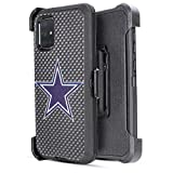 6goodeals Galaxy A51 Case, Holster with Belt Clip 4-Layer Anti Drop Heavy Duty Defender Protective Case for Samsung Galaxy A51 (Cowboy)