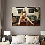 Bellezza Cameriera Sexy Lingerie Tentazione Poster Donne Caldo Corpo Artistico Adulto Poster Parete Arte 18r Erotico Poster Stampe Camera da Letto Decorazioni 50x70cmx1 No Cornice