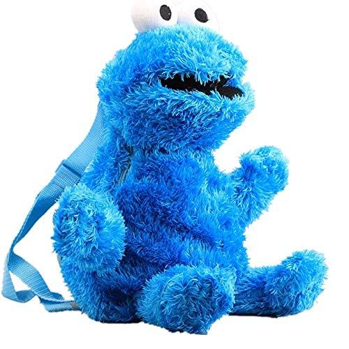 Plüsch-Rucksack Sesamstraße Schultasche Cartoon Elmo Cookie Monster Big Bird gefüllt Rucksack 46 cm 45,7 cm