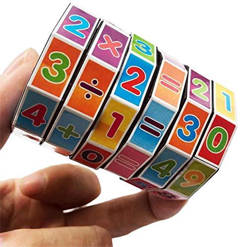 Chainscroll Zylindrische Mathematik Puzzles Würfel Kinder Arithmetik Spiel Kinder Lernspielzeug Baby- & Kleinkindspielzeug