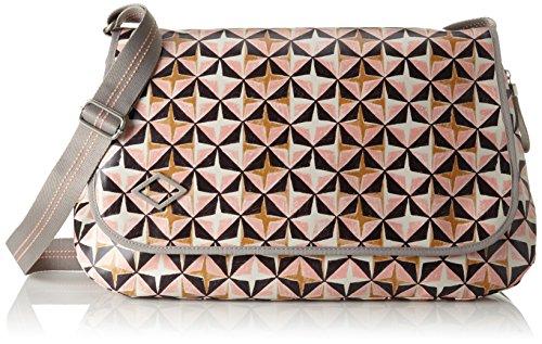 Oilily dames Lori geometrical Diaperbag Lhf schoudertas, roze (roze), 16x30x44 cm