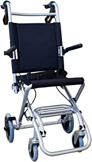 Mobiclinic, Neptuno, Opvouwbare rolstoel, Aluminium duwstoel, Opvouwbaar, riem, rem op de hendels, Met transporttas en rem...