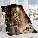 Semzuxvvo Joker und Harley Quinn Anime Babydecke Joker und Harley Quinn Anime Movie Charaktere Waschbare Decke für Kinder Erwachsene 153 x 130 cm