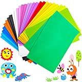 30 Pieces Assorted Colors EVA Foam Sheets,Colorful Foam Handicraft Sheet,Rainbow Crafting Sheets for Scrapbooks,Kids,School Artwork Projects,DIY Craft,Party Decoration