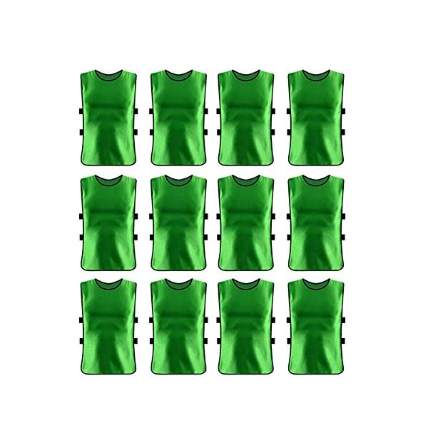 Training Vest 12 pcs Outdoor Sports Vests Scrimmage Soccer Football Training Breathable...