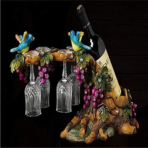 U/K Decoración de Pavo Real Casa Sala de Estar Cabineta de Vino Decoración de la Copa Creativa Soporte de Regalo de Boda Decoraciones de Escritorio Estatua (Color : Natural)