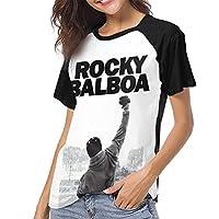 Rocky Balboa ロッキー Tシャツ レディース ユニーク 半袖 プリントインナーシャツ 丸ネック ショートスリーブ 2020夏最適トップス かっこいい カジュアル 通学 通勤 カップル服 女性 プレゼントm
