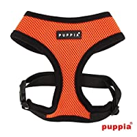 puppiapuppia正規販売店 pdcf-ac30胴輪 ソフトメッシュハーネス サイズ XS S M L XS,ORANGE