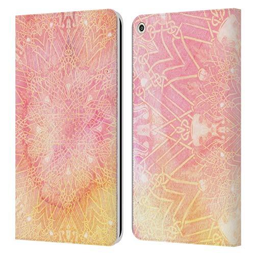 Officiële Aimee Stewart Roze limonade Mandala Lederen Book Portemonnee Cover Compatibel voor Huawei MediaPad T3 8.0