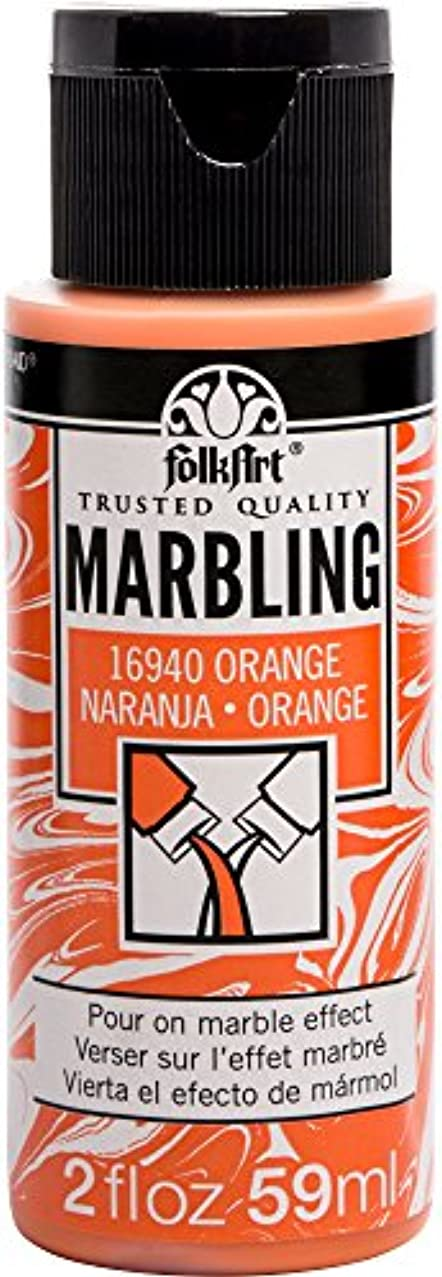 FolkArt 16940 Marbling Paint, 2 oz, Orange