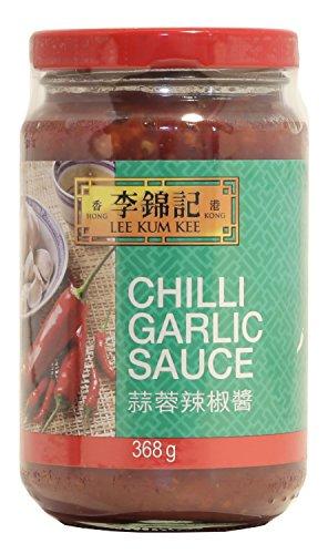 Lee Kum Kee Salsa Chili con Ajos, Especial para todo tipo de Salteados, Picante Medio-bajo 368g