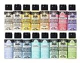 FolkArt Multi Surface Acrylic Paint Set 16 piece Pastel Colors, Count