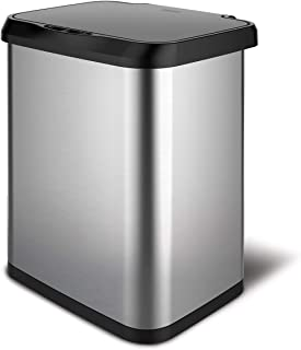 GLAD Stainless Steel Sensor Trash Can with Clorox Odor Protection of The Lid | Fits All Kitchen 13 Gallon Garbage Waste Bags