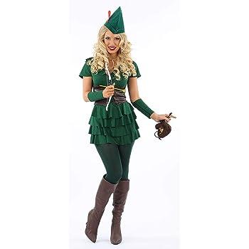 FAIRYTALE FEMALE PETER PAN ROBIN HOOD 10-14 womens ladies fancy dress costume