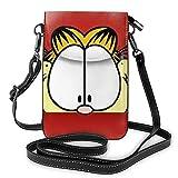 XCNGG Monedero pequeño para teléfono celular Garfield Crossbody Bags for Women's Crossbody Handbags Cell Phone Purse Waterproof Leather Handbags Small Wallet