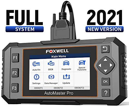 FOXWELL All System Scanner NT644E Diagnostic Scanner,Full System Scan Tool with 19 Hot Service Reset, ABS Bleed Scan Tool,Oil Light Service/EPB/TPS Reset,[English and Spanish Version]