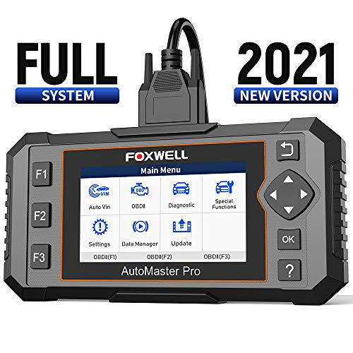 FOXWELL All System Scanner NT644E Diagnostic Scanner,Full System Scan Tool with 19 Hot Service Reset, ABS Bleed Scan Tool,Oil Light Service EPB TPS Reset,[English and Spanish Version]