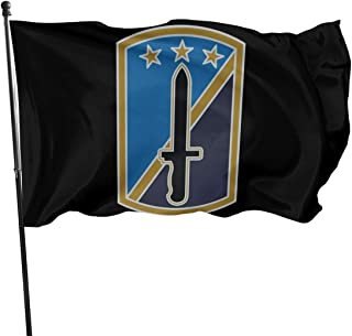 GUOQIANGfaqi Army 170th Infantry Brigade Veteran Flag 3' X 5' Ft Outdoor Flags Banner Breeze Flag
