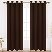 HOMEIDEAS Blackout Curtains Wide 52 X 95 inches Long Set of 2 Panels Chocolate Brown Room Darkening Curtains/Drapes, Thermal Insulated Grommet Window Curtains for Bedroom & Living Room