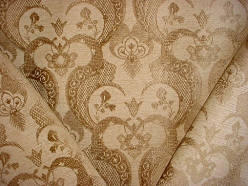 Chenille Floral Damask Fabric - 2