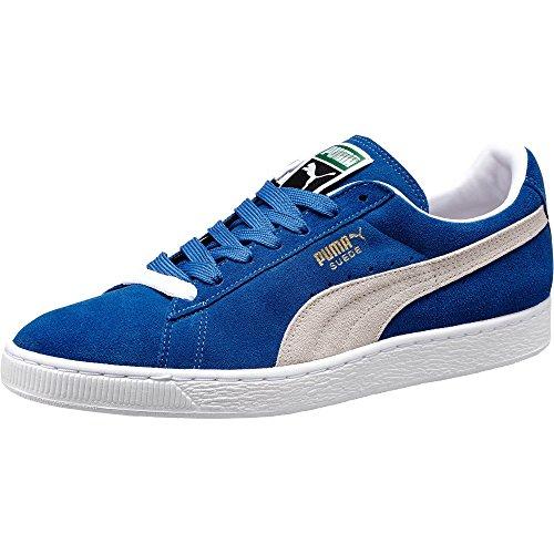 PUMA Unisex Suede-Classic+ Sneaker, Olympisches Blau/Weiß, 45 EU