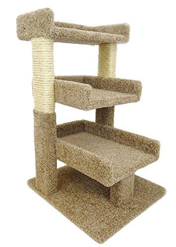 New Cat Condos 110029-Brown-Parent Premier Triple Cat Perch, Large, Brown