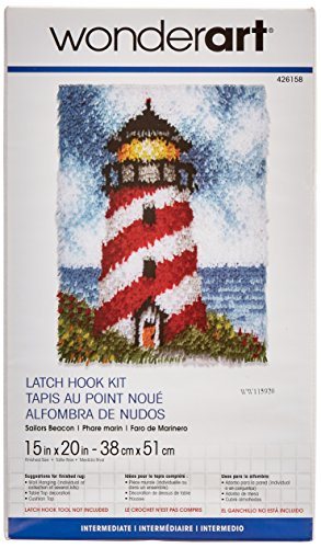 Spinrite Wonderart Latch Hook Kit, 15 by 20-Inch, Sailors Beacon