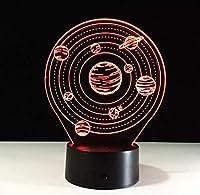 3DナイトライトランプスモールデスクUSB7カラーチェンジライト子供用ギフトとして