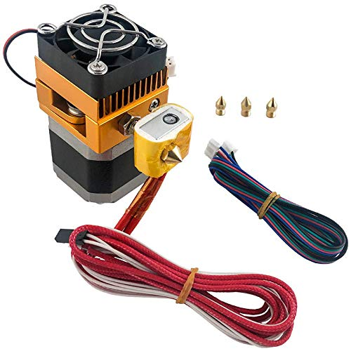 Camisin MK8 Extruder Hotend Kit with 0.2/0.3/0.4/0.5mm Nozzle Print Head for MakerBot Prusa I3 Reprap DIY 3D Printer